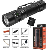 Rofis MR30 USB rechargeable flashlight CREE XHP35 HI max 1600 lumen beam distance 335m outdoor torch with 21700 5000mAh battery