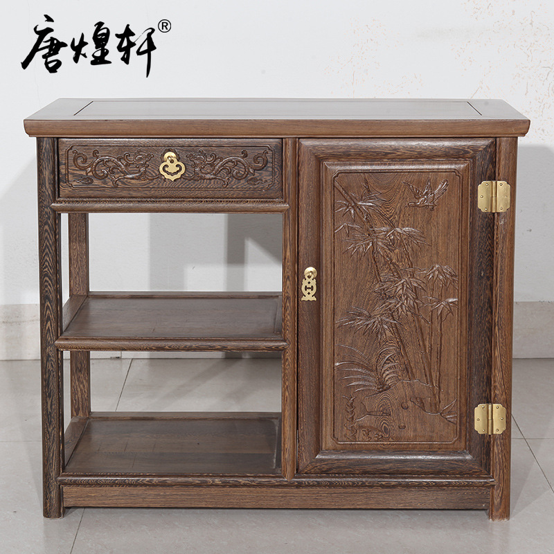Tang Huangxuan Mahogany Furniture Wooden Chinese Living Wood Tea Table Simple Antique Kung Fu Tea Table Tea Table