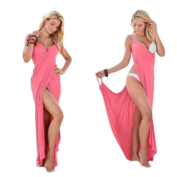 af8b015ff Sexy hombro verano playa Maxi vestido de las mujeres 2018 Boho cubierta Ups  sin mangas Plus tamaño 5XL vendaje blanco rojo vestidos largos