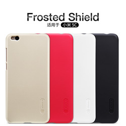 NILLKIN case for xiaomi mi 5c case cover + screen protection film Black Gold 5.15 inch Original xiaomi 5c matte Back cover Brand