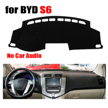 Приборной панели автомобиля охватывает мат для BYD S6 низкая конфигурации все годы левым dashmat Pad Даш крышка авто аксессуары