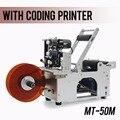 Простая этикетировочная машинка для круглых бутылок с кодовым принтером MT-50M