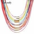 Горячие Женская Мода Многоцветный Ожерелье Многослойные Веревка Богема Заявление Длинное Ожерелье Ювелирные Изделия для Женщин N27971