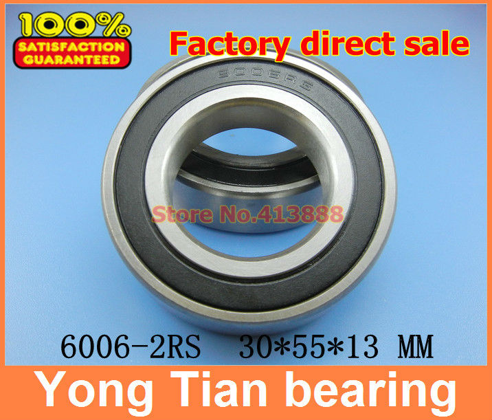 High quality deep groove ball bearing 4pcs/lot free shipping quality 6006 2RS 6006RS 6006-2RS 6006RZ 180106 30*50*13 mm best price 10 pcs 6901 2rs deep groove ball bearing bearing steel 12x24x6 mm