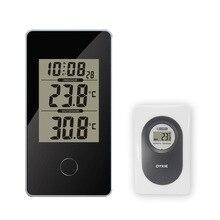 Digitale Draadloze Weerstation Touch Screen indoor outdoor Thermometer Hygrometer Weerbericht Sensor Klok 20C 60C