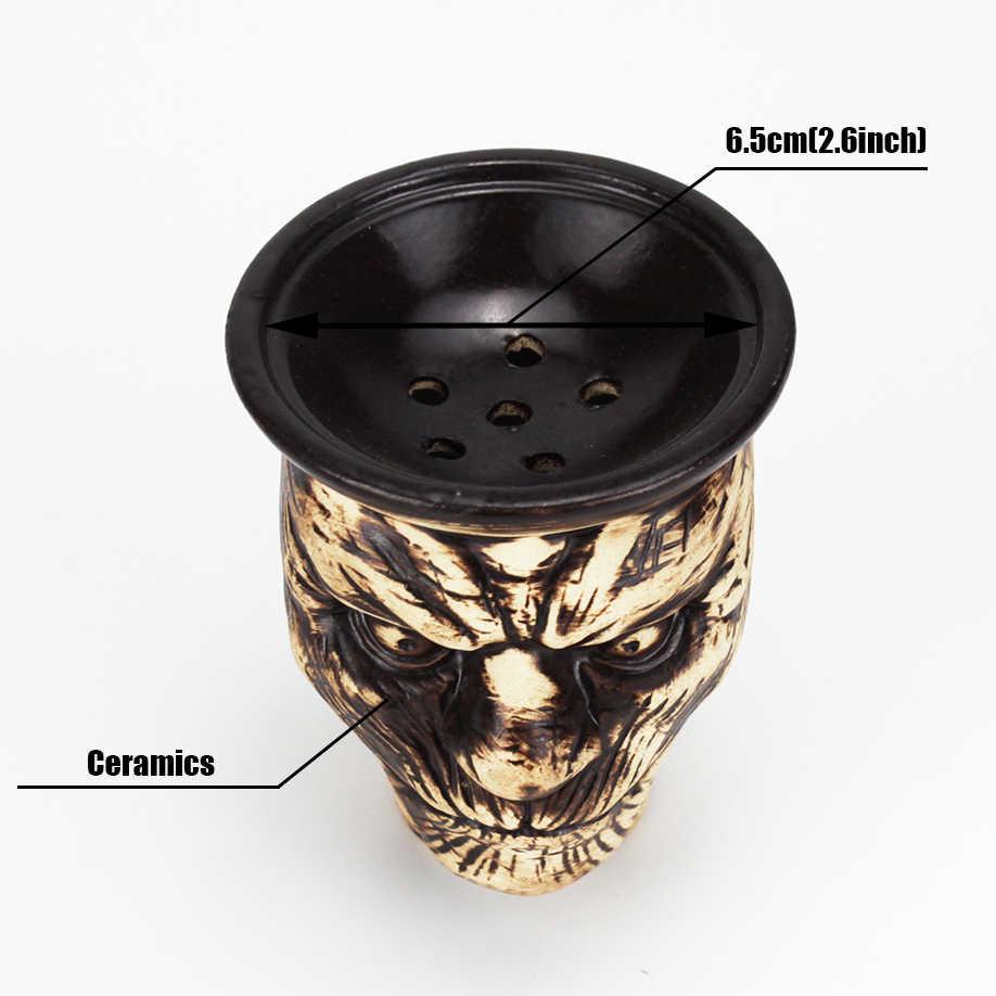Tigela de nargile chicha cachimbas, suporte para cabeça de caveira shisha, shisha, tabaco, tigela, acessórios para nargile