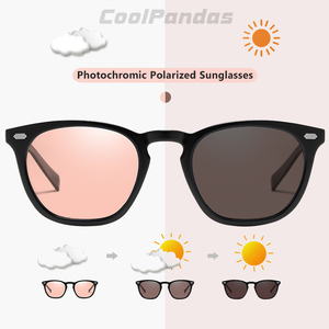 Image 2 - Brand Design Intelligent Photochromic Sunglasses Women Polarized Men Driving  Sun Glasses Pink Tinted color lunette soleil femme