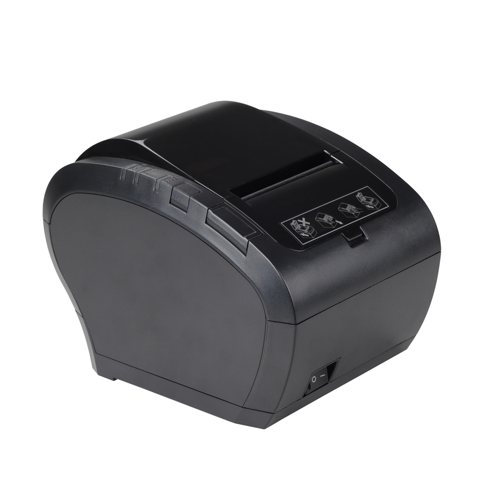 High Printing Speed Auto Cutter USB/RS232/LAN Desktop 80mm POS Thermal Receipt Printer 80mm high speed 300mm s thermal receipt printer auto cutter windows android ios bluetooth pos printer