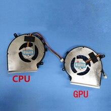 Новый OEM Ноутбук вентилятор для MSI GE62VR GP62MVR GL62M ноутбук процессор охлаждение ГПУ кулер вентилятор PAAD06015SL 4 контакта