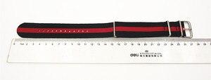 Image 2 - ¡Gran oferta! Correa de reloj de nailon de alta calidad, 10 unidades por lote, correas NATO zulu de 24MM, resistente al agua, 10 colores