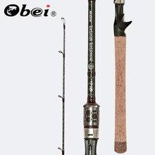 Obei MONSTER HUNTER caña de pescar giratoria de fibra de carbono, 803XXH, 2,38 m, 20 80g, señuelo de Catfish de potencia, caña de pescar de viaje