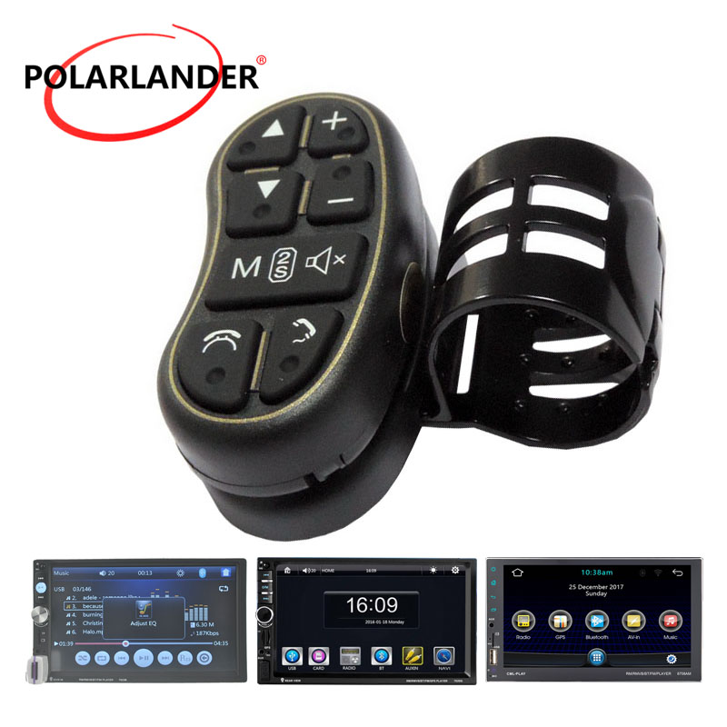LED Light Universal Remote Control For Car Multimedia DVD Player Bluetooth Wireless 8 Button Car Steering Wheel Use 2 Din Radio