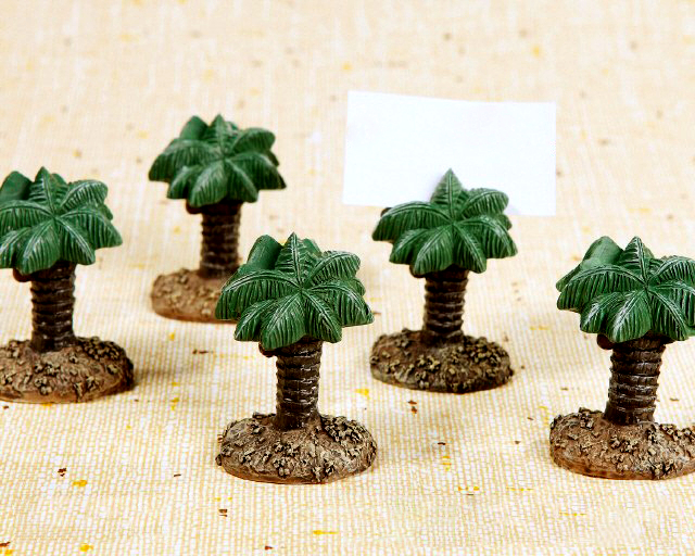 Fast Delivery! Wedding Favor Hawaii Amorous Feelings Palm Tree Place Card Holders Wholesale