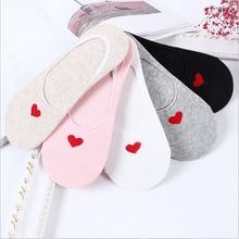 2pairs/lot 5 Colors Spring Summer Women socks no slip socks Comfortable Cute Heart Heel Harajuku Ankle Low Female Short socks cow pattern socks 2pairs
