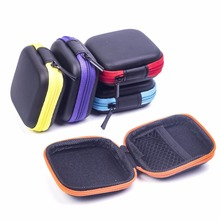 Portable Digital Accessories Travel Storage Bag For Earphone SD Card Data Cable MP3 External Battery Organizer 5 Color Pouch