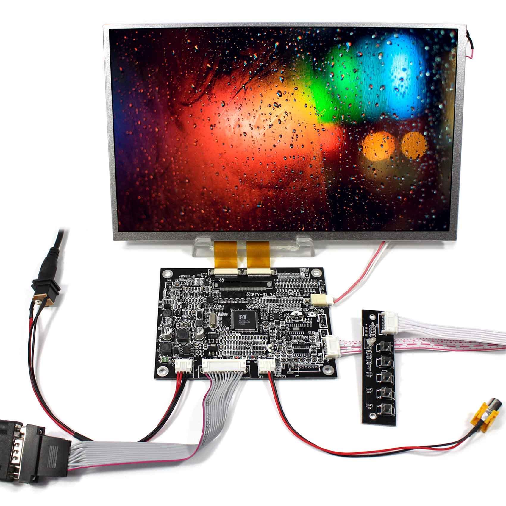 все цены на VGA AV LCD Controller Board With 10.2inch AT102TN03 800x480 TFT LCD Screen