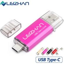 Leizhan 256 ГБ Тип-C USBC в коробке sub Флеш накопитель 16 Гб оперативной памяти, 32 Гб встроенной памяти, 64 ГБ 128 для S10, S9, S8, Google Pixel XL, Xiaomi 6 флеш-накопитель 3,0 палочка