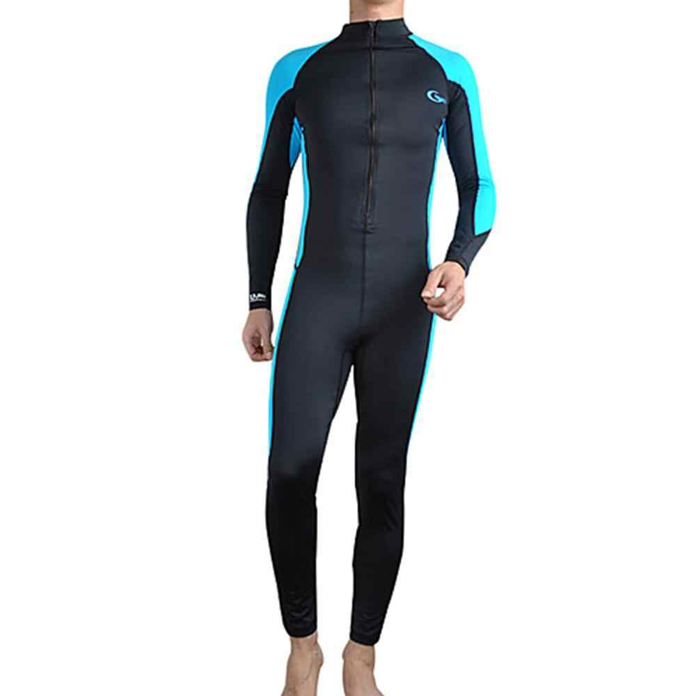 Yonsub Lycra Ruam Penjaga Pria Wanita & KDS Renang Satu Potong K Berlaku Baju Renang Lengan Panjang Ruam Penjaga Surfing UPF50 + pantai