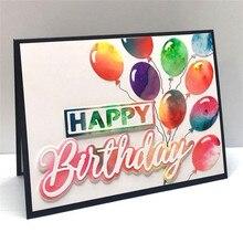 Eastshape Happy Birthday Cutting Dies Scrapbooking Metal New 2019 Word Alphabet Craft Letter Die Cuts for Cards Making