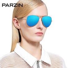 Parzin Glass Lenses Colorful Film Sunglasses Women Men Pilot Aviation Sun Glasses Brand Designer Male Driving Glasses With Case