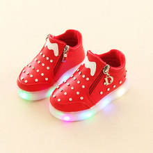 shoes for girls hello kitty glowing sneakers baby girl childrens luminous kids casual EUR 21-30