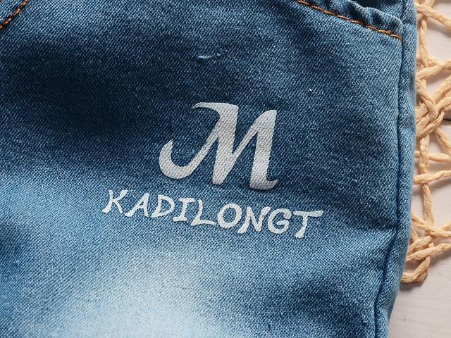 Casual Short-Sleeved T-Shirt Denim Pants Suit