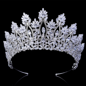 Image 2 - Tiaras และ Crowns HADIYANA คลาสสิกใหม่แฟชั่นการออกแบบเจ้าสาวอุปกรณ์เสริมผมจัดงานแต่งงานผู้หญิง BC5070 Corona Princesa