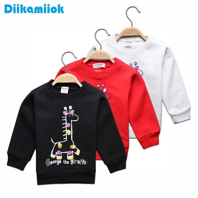 396d9c2243 Sale Kids Fashion Baby Boys Hoodies Giraffe Printed T-shirts for Girls Warm  Fleece Sweatshirt Children s Clothes Outerwear Tops