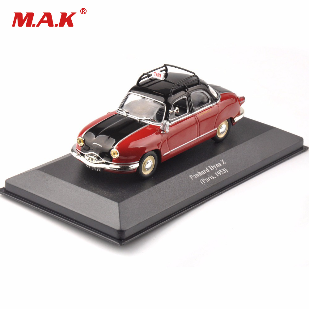 Cheap toys Kids Toys Diecast <font><b>IXO</b></font> Diecast Red Taxi Model Panhard Dyna Z (Paris ,1953) Vehicle Car Toys New Year gift image