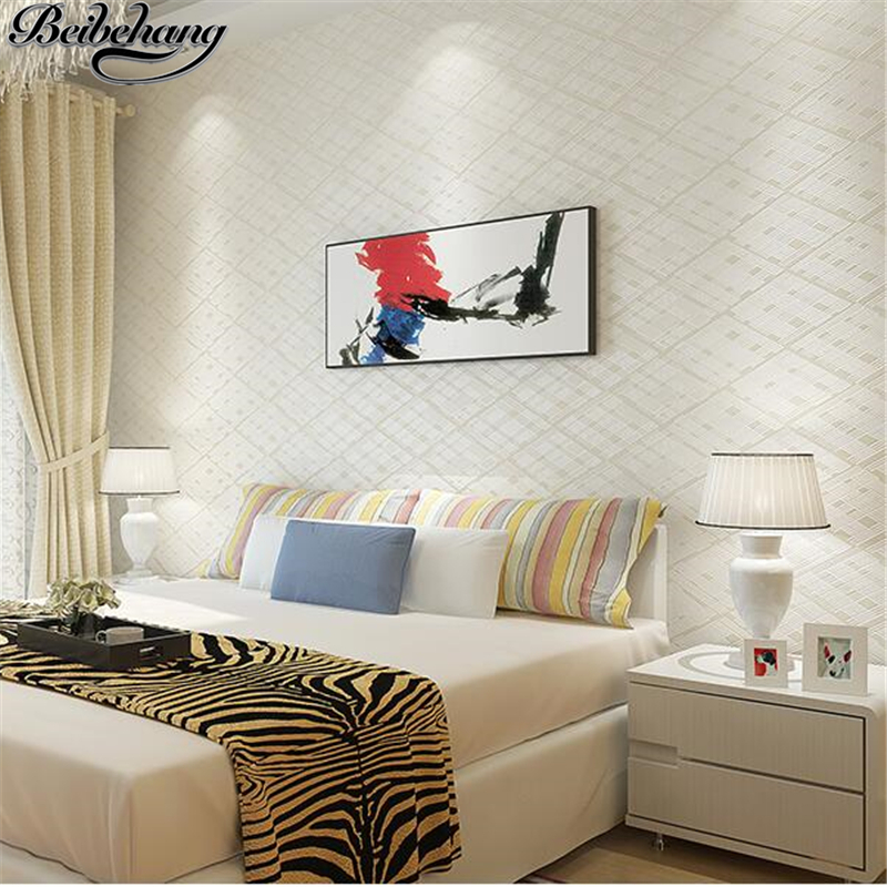 beibehang New bedroom wallpaper modern minimalist TV backdrop plain wallpaper three - dimensional living room wall paper князева а подвеска кончиты