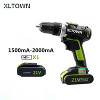 XLTOWN 21V 2000 mAh electric screwdriver multi function rechargeable lithium battery household cordless drill Power Tools