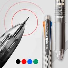 5 в 1 многоцветная шариковая ручка Маркер ручки с черными/синими/зелеными/красными чернилами Шариковая ручка 0,7 мм+ 1 шт автоматический карандаш 0,5 мм для письма