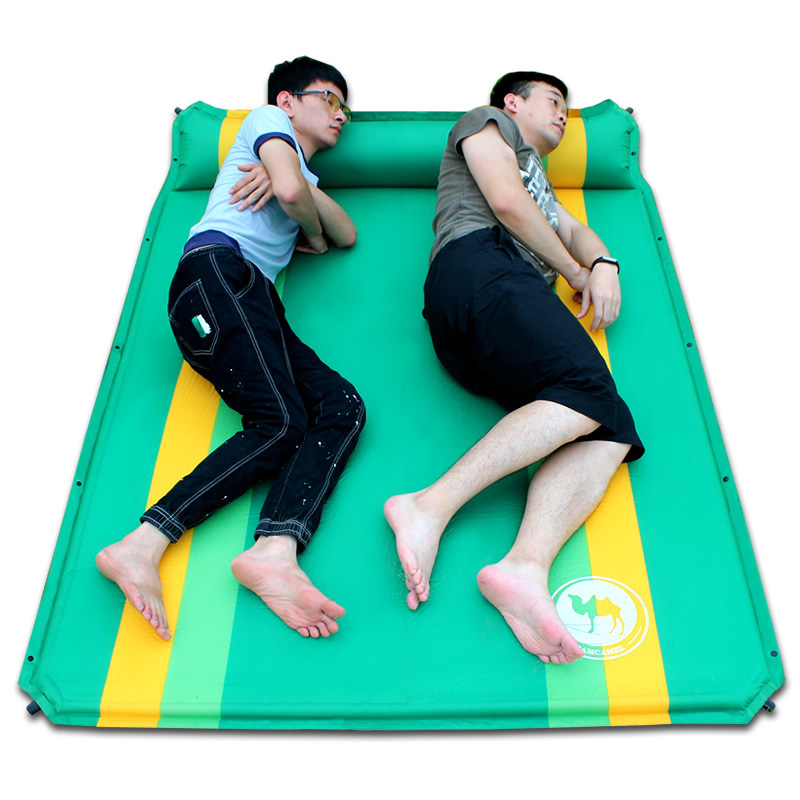 Outdoor Camping Mat Moisture Pad Inflatable Mattress Self Inflating Cushion2 Persons PVC Automatic Inflatable Mattress все цены