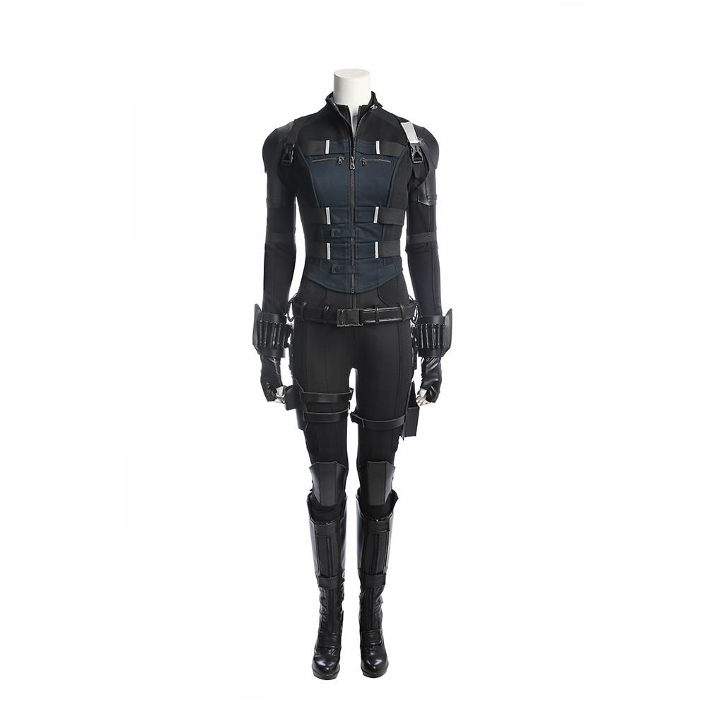 Avengers Infinity War Costume Set Black Widow Natasha Romanova - Maskeradkläder och utklädnad