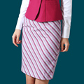 New Airline Attendant Skirt Suits Work Wear Package Hip Stripe Skirt Matched with Long-sleeve Slim Suit
