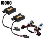 ICOCO 55W 12V H7 6000K Xenon HID Kits Car Headlights 2pcs Lot 55W DC12V Slim Ballast