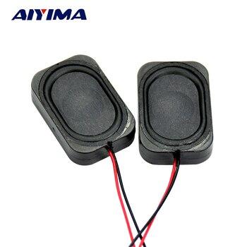 цена на AIYIMA 2Pcs Mini Portable Audio Speakers 3020 8 Ohm 2W Cavity Speakers DIY Speaker