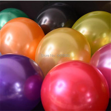 Luo Xin  pearl round ballon 10 inch 2.2g 100 pcs gold silver mixed wedding room layout  birthday party wedding supplies balloons недорго, оригинальная цена