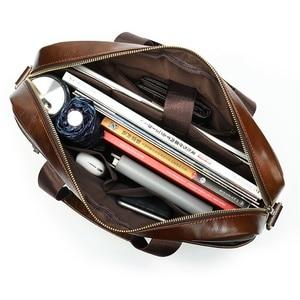 Image 5 - MVA mens briefcase/genuine Leather messenger bag men leather/business male laptop office bags for men briefcases mens bag 8824