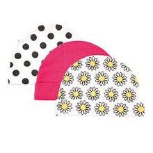 3pcs/lot Newborn Baby Hats & Caps USA Luvable Friends Floral Plaid Baby Accessories for 0-3 Months luvable friends брюки 3 шт