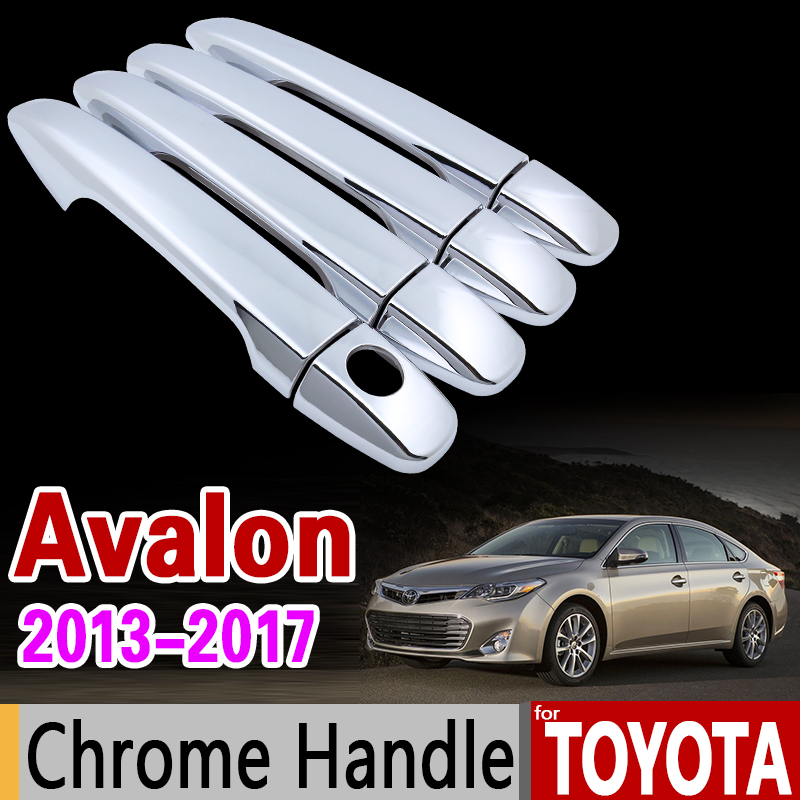 Chrome Handle Cover Trim Set For Toyota Avalon 2017 Luxurious 40 2016 Accessories Stickers Car Styling