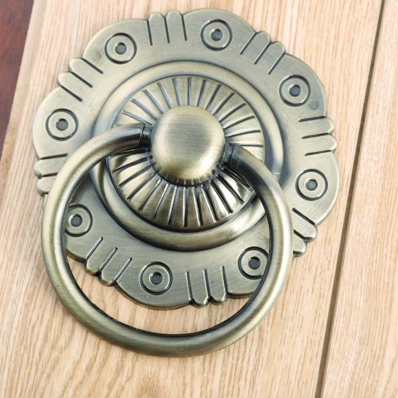 Chinese Retro style wooden door drop rings handles antique brass / antique copper wooden door knocker 117mm 80mm entrance door handle solid wood pull handles pa 377 l300mm for entry front wooden doors