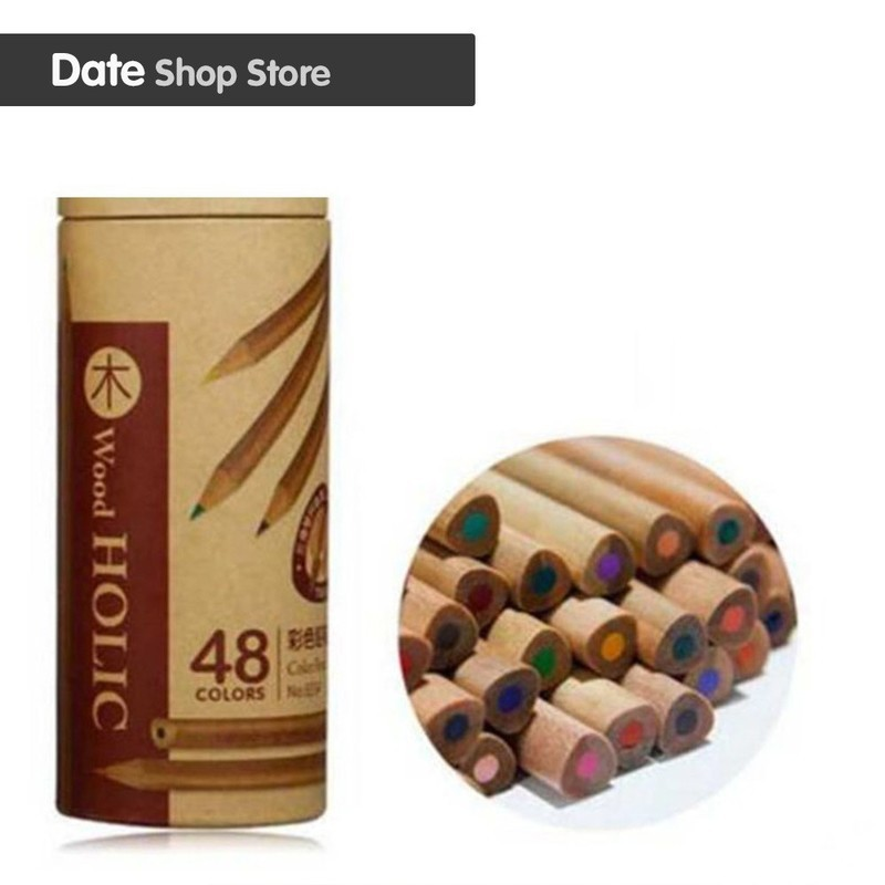 Triangle 36/48 color stick pencil color set drawing tools art painting candle girl pastel color pencil colored pencils cute lovely color pencil drawing tutorial art book