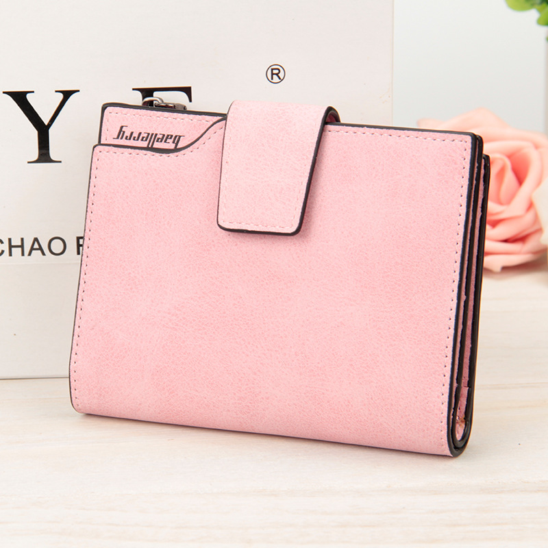 Wallet Women's Vintage Fashion Top Quality Small Wallets PU Leather Purse Female Money Bag Small Zipper Coin Pocket Brand Hot цена