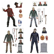 "NECA Friday the 13th Ultieme Deel 4 Jason 7 ""A Nightmare on Elm Street Freddy Krueger MICHAEL MYERS Action figuur Speelgoed(China)"