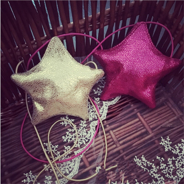 Five-pointed Stars Shape Coin Bag Girls Small Coin Purse Change Wallet Children Mini Crossbody Bag Baby Wallet Money Holder