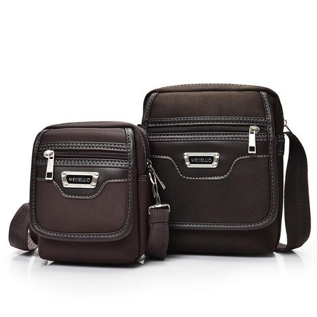 cebdd87c1f8a7 الرجال حقيبة 2017 أزياء رجالي حقائب الكتف عالية الجودة أكسفورد عادية أسود  براون رسول حقيبة الرجال