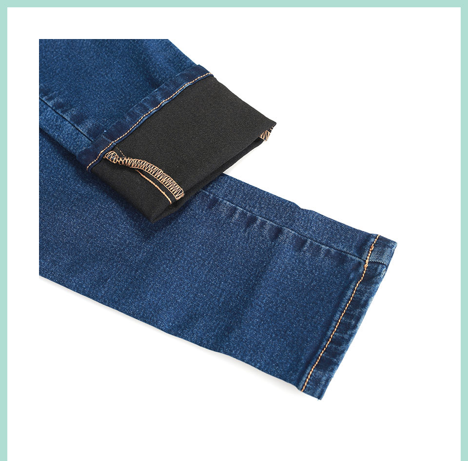 Autumn Winter Women Denim Skinny Pants Super Stretch Fake Front Pocket Waist Blue Grey Black White Slim Elastic Lady Jeans 33