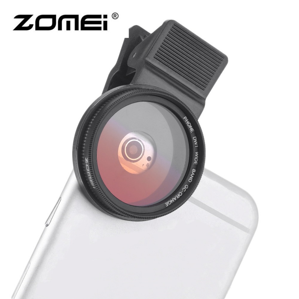 ZOMEI 37MM Mobile Phone Camera Lens Filter Kit Professional Phone Lens Clips Polarizer Universal For iPhone Samsung Smartphone 3 in 1 zomei universal 37mm cpl close up filter nd2 400 nd fader filter kit professional m1 phone lens filter for iphone samsung