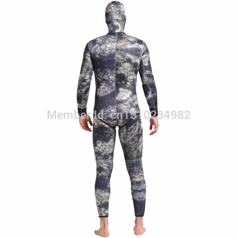 Sbart Mens Wetsuit Neopren Kamuflaj 3mm Sualtı Avcılık Spearfishing Tüplü dalgıç kıyafeti Termal Anti-scratch Dalış Kıyafetleri